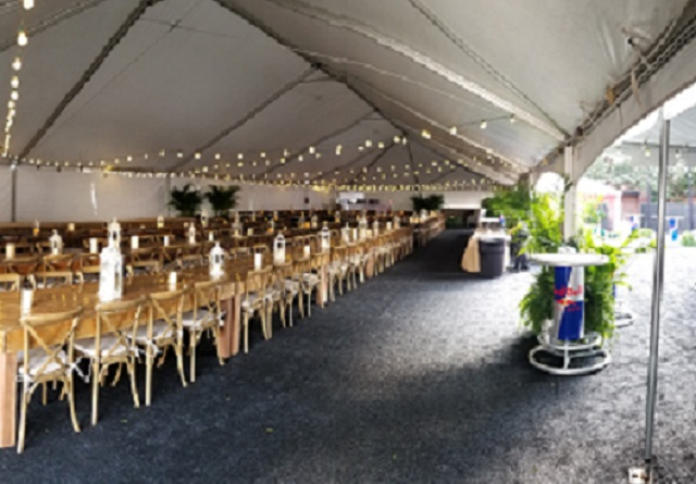 Farm Tables Ready to Party