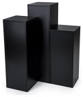 Rental store for FLOOR COLUMN SET OF 5 SQUARE, BLACK in New Orleans LA