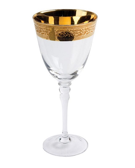 Rent Glassware, Gold Rim